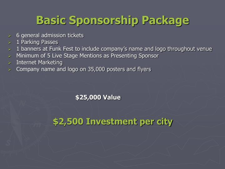 Basic Sponsorship Package