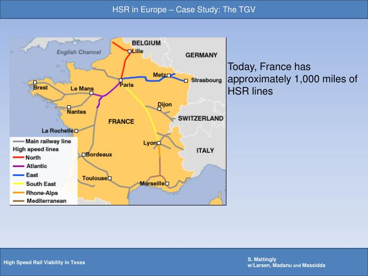 HSR in Europe – Case Study: The TGV