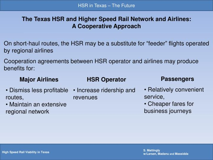 HSR in Texas – The Future