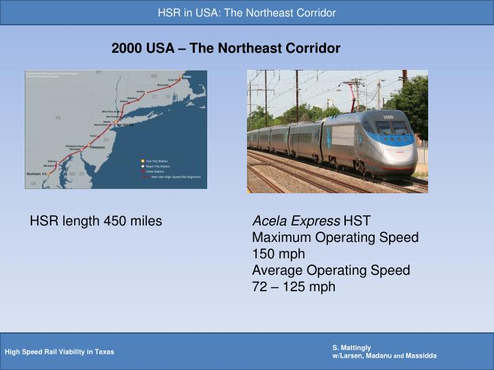 HSR in USA: The Northeast Corridor