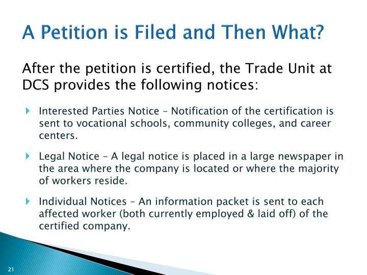 A Petition is Filed and Then What?