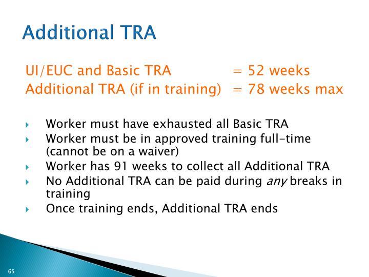 Additional TRA