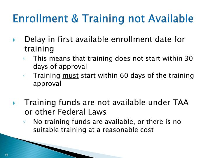 Enrollment & Training not Available