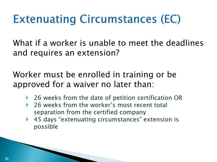 Extenuating Circumstances (EC)