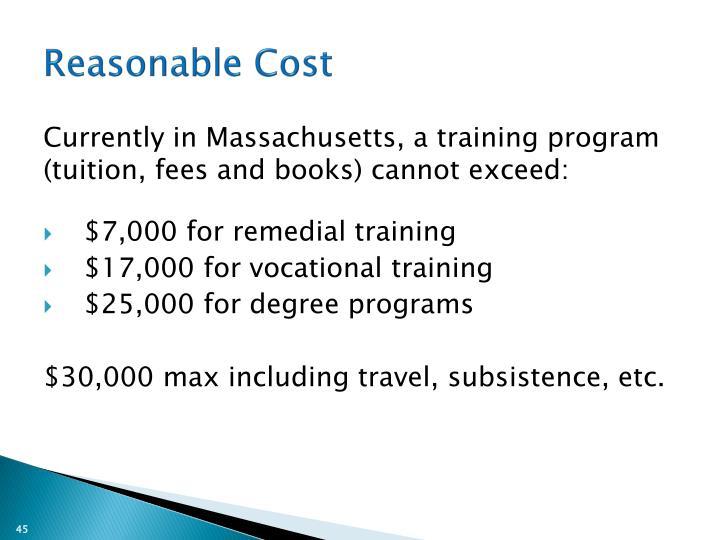 Reasonable Cost