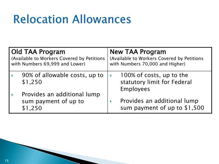 Relocation Allowances