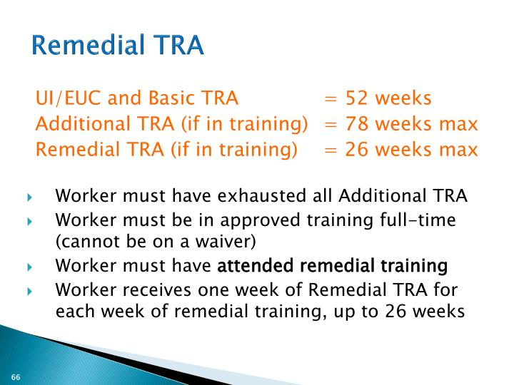 Remedial TRA