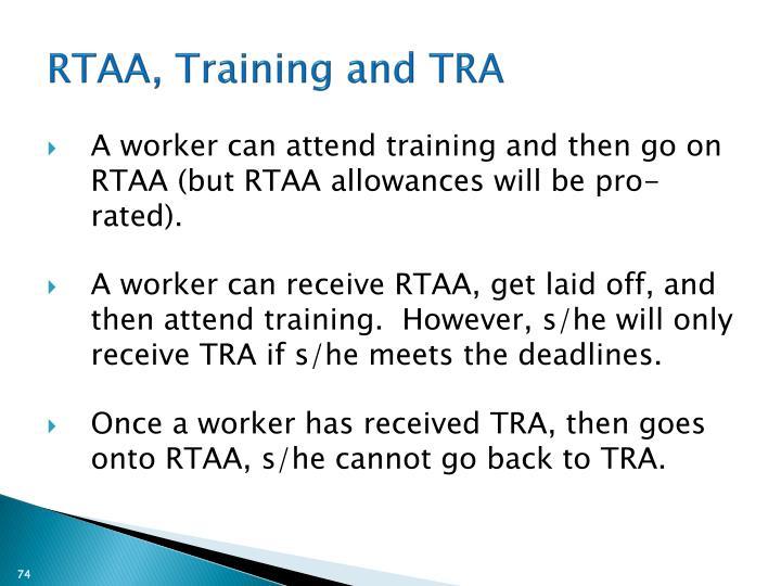 RTAA, Training and TRA
