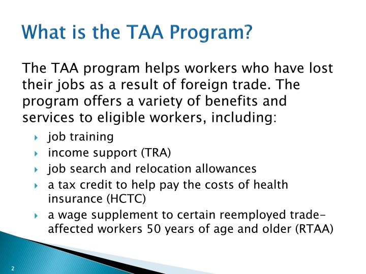 What is the taa program