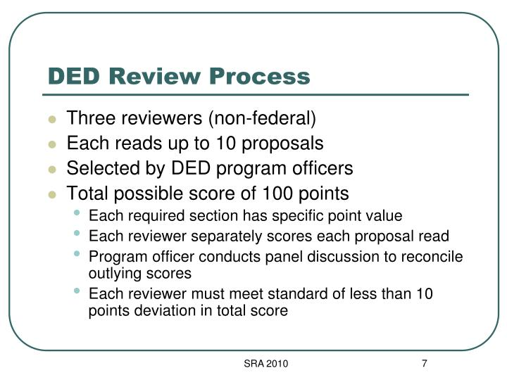 DED Review Process