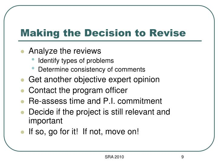 Making the Decision to Revise