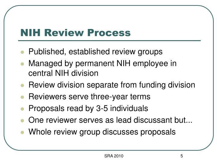 NIH Review Process
