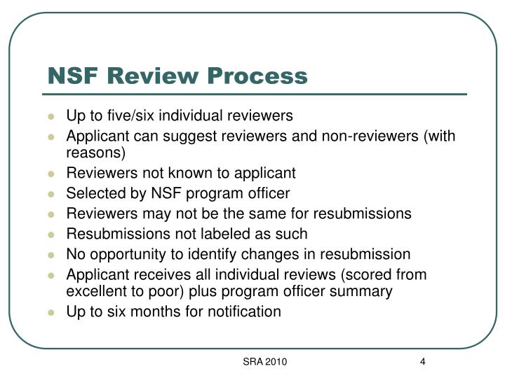 NSF Review Process