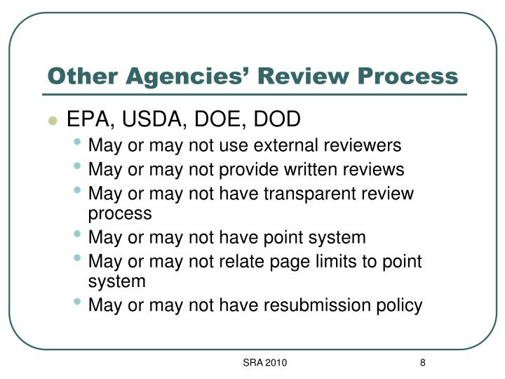 Other Agencies' Review Process