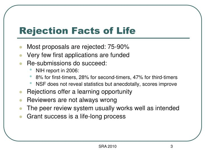Rejection facts of life