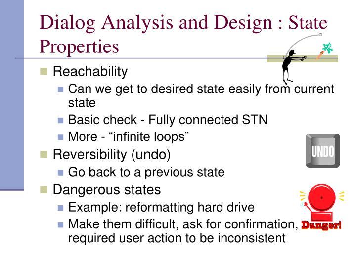Dialog Analysis and Design
