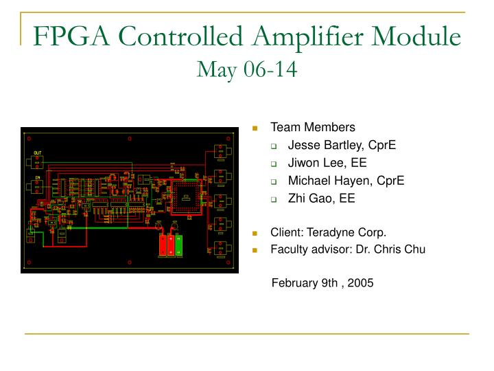 fpga controlled amplifier module may 06 14
