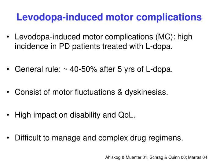 Levodopa-induced motor complications