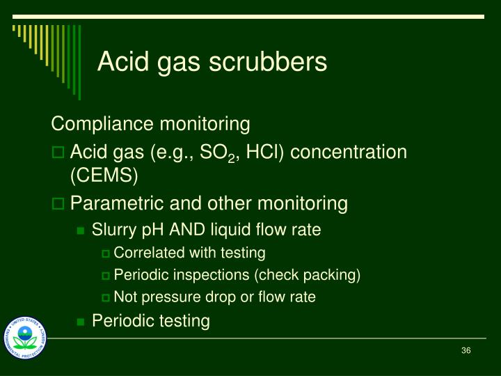 Acid gas scrubbers