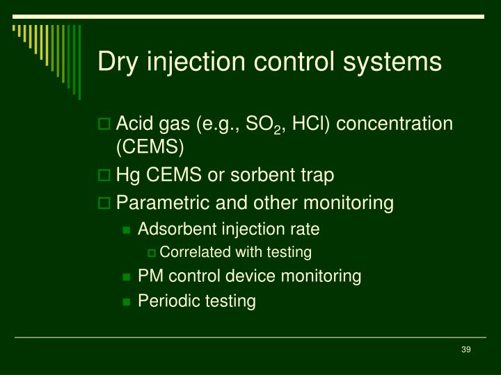 Dry injection control systems