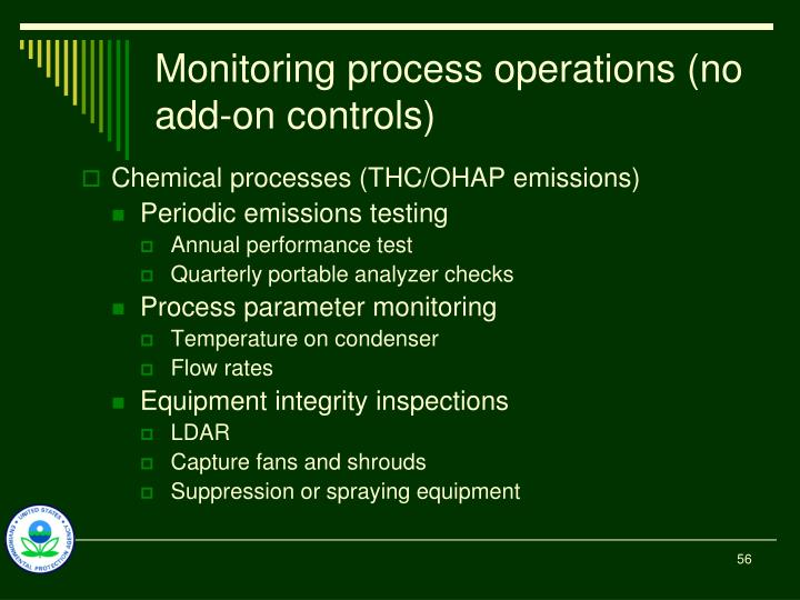 Monitoring process operations (no add-on controls)