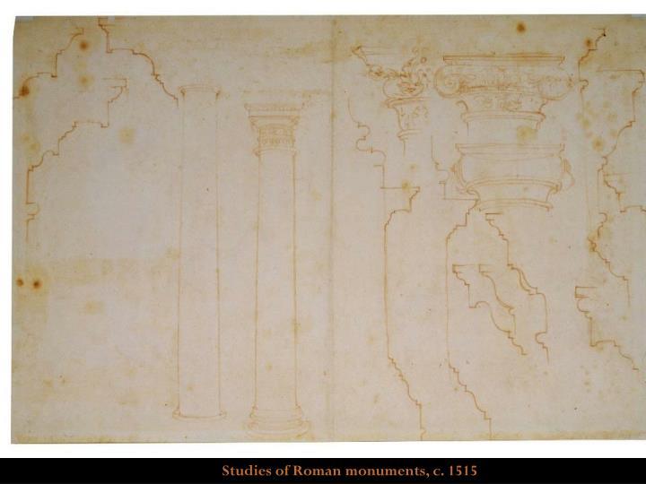 Studies of Roman monuments, c. 1515