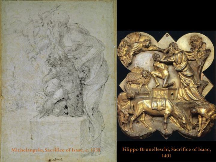 Filippo Brunelleschi, Sacrifice of Isaac, 1401