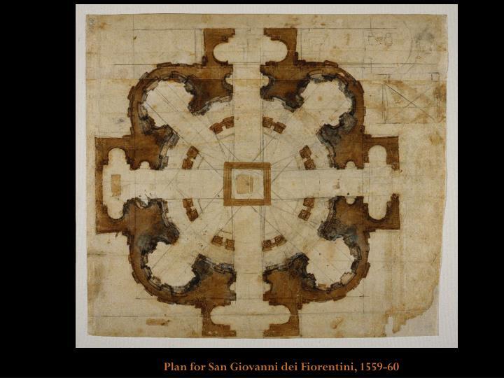 Plan for San Giovanni dei Fiorentini, 1559-60