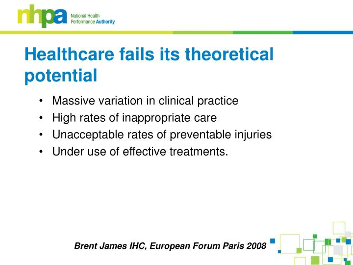 Massive variation in clinical practice