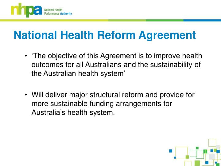 National health reform agreement