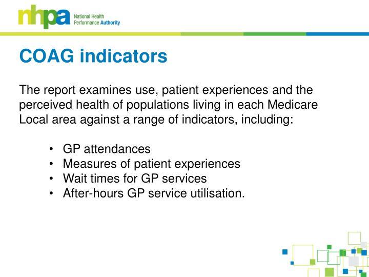 COAG indicators
