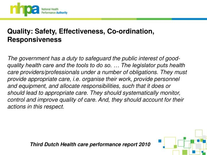 Third Dutch Health care performance report 2010