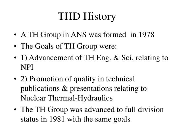Thd history