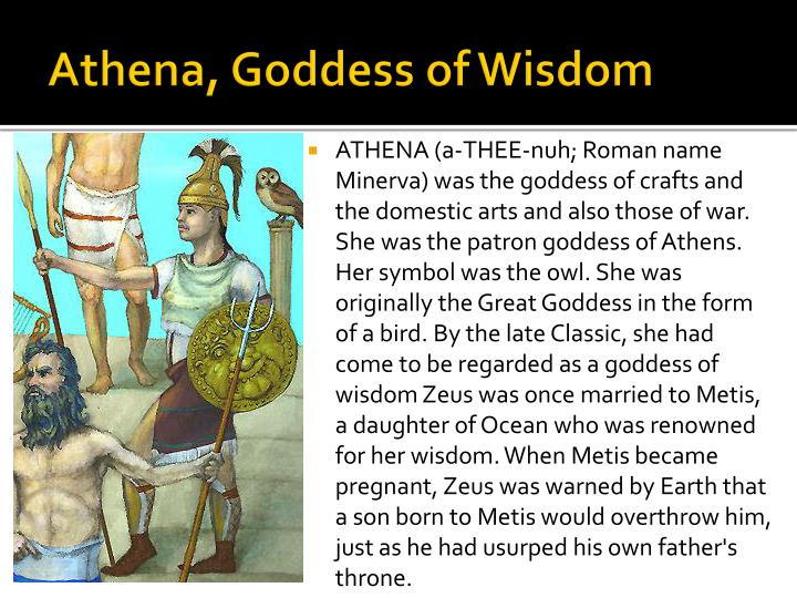 Athena, Goddess of Wisdom