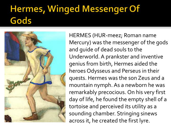 Hermes, Winged Messenger Of Gods