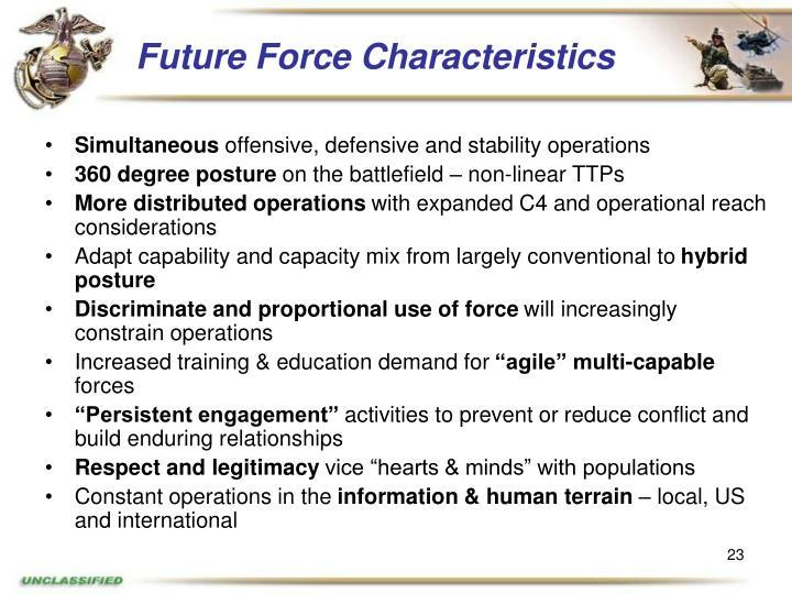 Future Force Characteristics