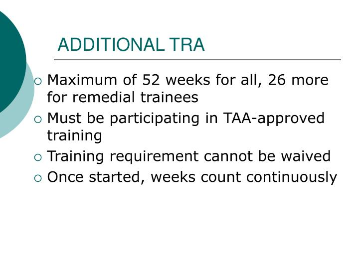 ADDITIONAL TRA