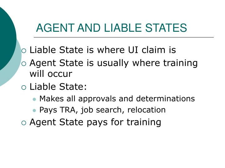 AGENT AND LIABLE STATES