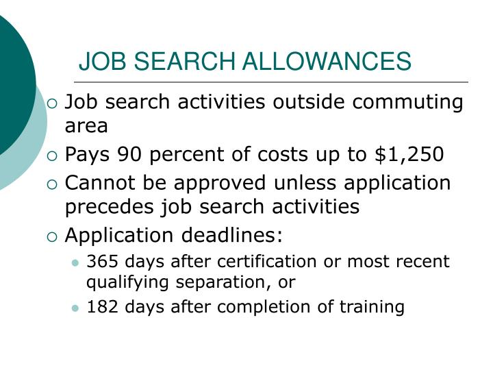 JOB SEARCH ALLOWANCES