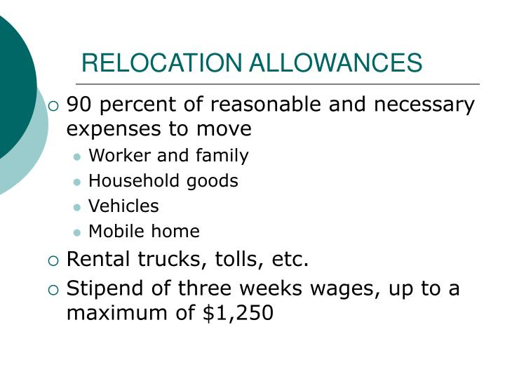 RELOCATION ALLOWANCES