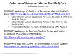 collection of personnel master file pmf data additional resources