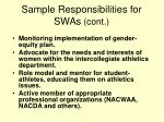 sample responsibilities for swas cont