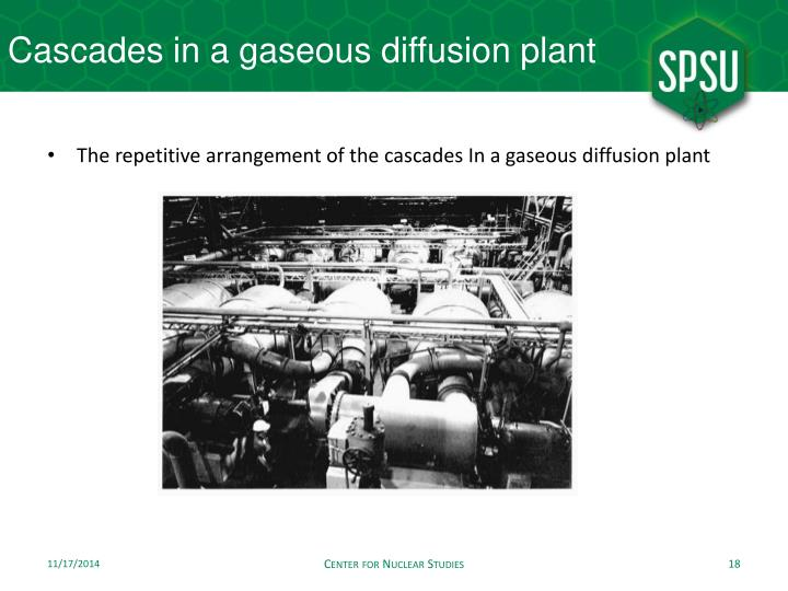 Cascades in a gaseous diffusion plant