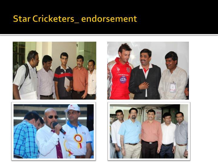 Star Cricketers_ endorsement