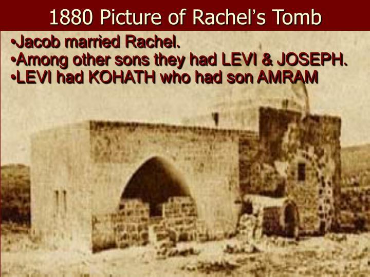 Jacob married Rachel.