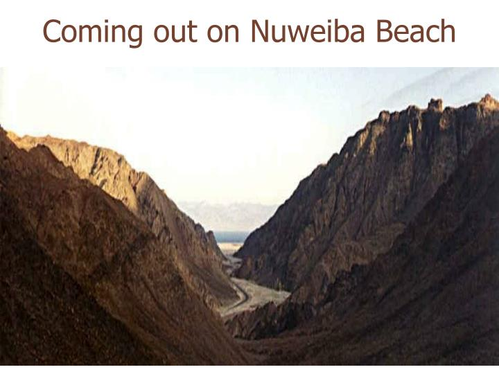 Coming out on Nuweiba Beach
