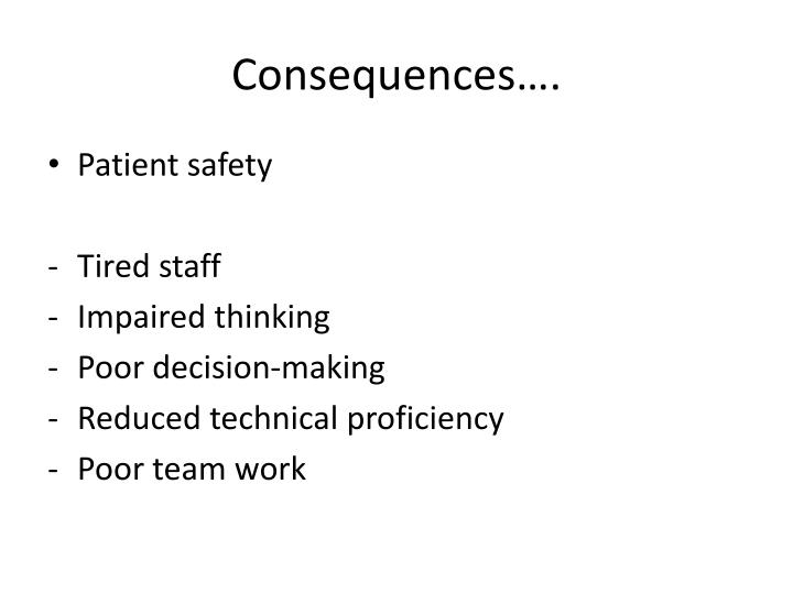 Consequences….