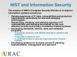 nist and information security