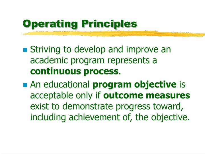 Operating Principles