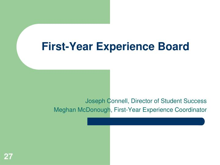 First-Year Experience Board